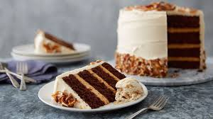 Sky High Salted Caramel Chocolate Layer Cake Recipe BettyCrocker
