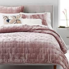 tea pink velvet bedspread the linen house