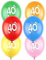 12 Luftballons 40 Geburtstag Bunt Partydekound Günstige