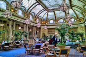 the palace hotel s garden court photo by travis wise we all know that san francisco s