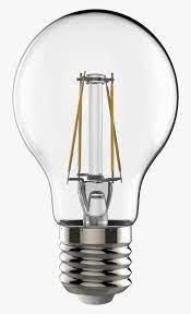 Incandescent Light Bulb Led Lamp Edison Screw Light-emitting - Led Lamp  Transparent, HD Png Download - kindpng