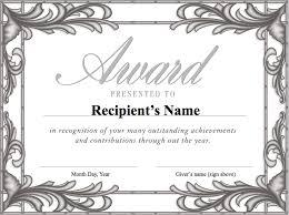 Formal Certificates Formal Award Certificates 7 Reinadela Selva