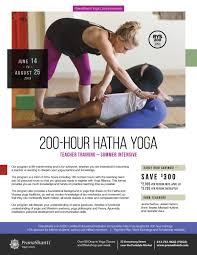 hatha yoga teacher summer program june 14 august 25 2019