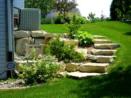 Bedroom:Alluring Ideas About Landscape Steps Landscaping Timber Stairs  Slope Eebebccaeedcb Pictures Stone Garden On