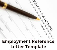 samples of letters of recommendations for employment sample employment reference letter