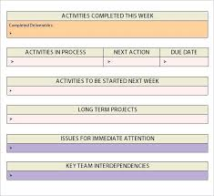 Employee Excel Template Beautiful Weekly Activity Report Sales ...
