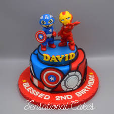 Captain America And Iron Man 3d Cake Great Detail Avenger Cake