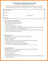 Employee New Hire Forms Free New Hire Template Employee Checklist Free Word Pre Employment Medical