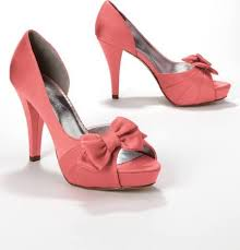 coral wedding shoes. coral satin wedding shoes Wedding Shoes Blog