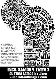 Aztec Tattoo Patterns New Inca Samoan Tattoo By Juno Tattoo Designer