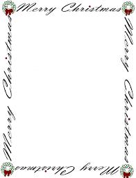 Christmas Letter Borders Free Printable Theveliger