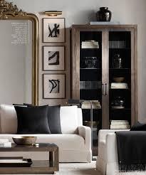 RH Source Books. Living room harmony in white, black, gray, brown ...