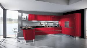 Kitchen Backsplash Red Bright Color Kitchen Layout Design With Red Cabinet And Backsplash