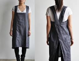 Japanese Apron Pattern Impressive Easy To Make Back Cross Strap Apron The Daily Sew