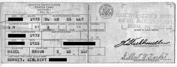 Vietnam Era Draft Card Ephemera Photographs Military