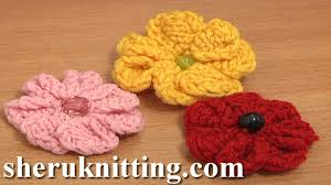Knitted Flower Pattern Impressive Knitting 48Petal Flower Tutorial 48 Easy Knitting Patterns YouTube
