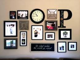 hanging picture frame collage ideas wall photo frames clock sublimation decorating scenic
