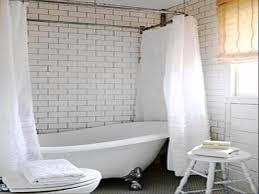 plush extra wide white bathroom shower curtain for classic clawfoot antique bathtub and shower