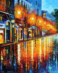 oil paintings painting early morning in paris palette knife oil painting on canvas by