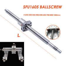 SFU1605 <b>Rolled</b> Ballscrew Ballnut Anti-Backlash 250-1500mm End ...