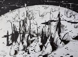 ペーパームーンのダフネhcシェンモンスター外来植物の未知の生物学的宇宙の独立したイラストレーターの作
