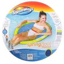 Swimways Spring Float Papasan Pool Chair Light Blue Lime Swimways Spring Float Papasan Walmart Com