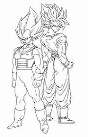 Dragon Ball Super Vegeta Coloring Pages Printable Coloring Page