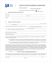 release of medical information template release of medical information form 7 free documents in word pdf
