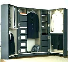 external closet rack hanging closet organizer