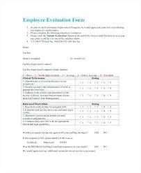 Simple Employee Evaluation Form Basic Self Pdf – Pitikih