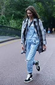 a white and black plaid trench and light blue dungarees are absolute must haves if