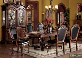 PC High End Cherry Finish Dining Room Set Table And Chairs ZAC - Images of dining room sets