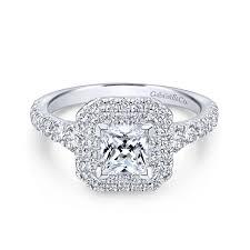 gabriel bridal 14k white gold princess