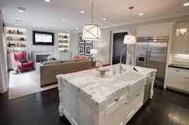 open kitchen living room designs. Calcutta Marble Kitchen Island Open Kitchen Living Room Designs