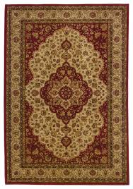 allure red gold oriental persian traditional rug