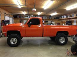 Restored 1982 Orange Chevy Pick Up K20 4x4