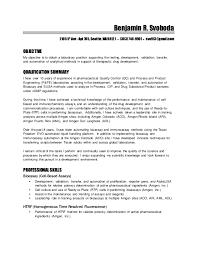 Pharmaceutical Engineer Sample Resume Mesmerizing Svoboda Ben Resume 4444