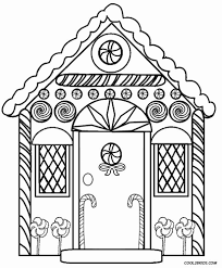 These haunted house coloring pages to print can be quite fun if your child loves to hear ghost stories. Printable Gingerbread House Coloring Pages For Kids