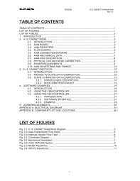 Table Of Contents Chart Table Of Contents List Of Figures Phenix