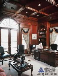 office wood paneling. the woodside study with wood panel ceiling by tampa luxury home builders alvarez homes office paneling