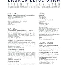 Sample Resume For Interior Designer Nmdnconference Com Example