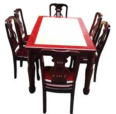red wood dining chairs. Marble Top Dining Set With Red Border Wood Chairs