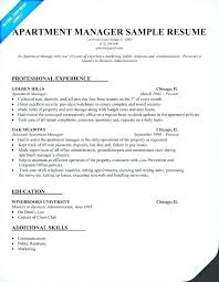sample resume for apartment manager resume for property manager fabulous sample resume property manager