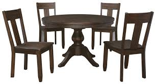 piece round dining table set wood seat side chairs by tables and benches set