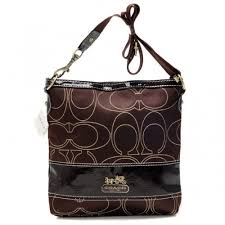 Coach Swingpack In Signature Medium Coffee Crossbody Bags AXB