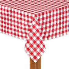 buffalo check 60 in x 104 in red 100 cotton table cloth for