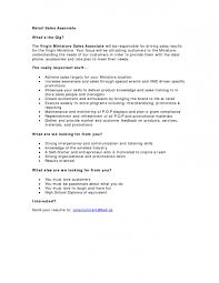 Sample Resume Retail Sales Cover Letter Sample