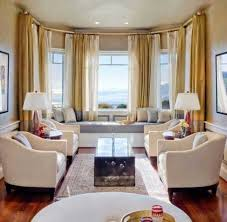 bay window living room. Chic Ideas Curtains For Bay Windows In Living Room Decor Window I