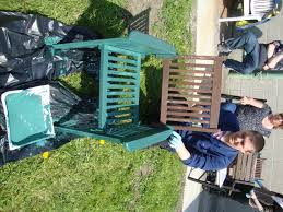 garden furniture painting project