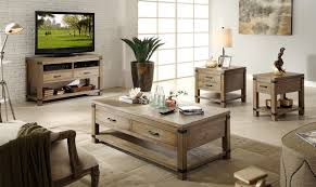 The Bay Living Room Furniture Riverside Furniture Bay Cliff Rectangular Cocktail Table With 2
